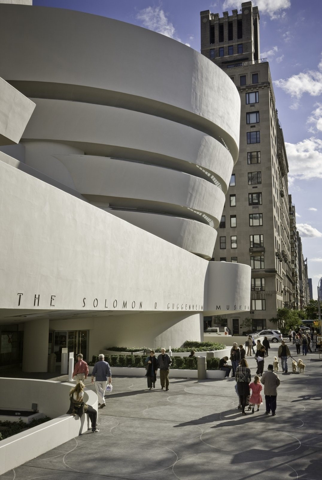 October 21 Building of the Day: Solomon R. Guggenheim Museum  Frank Lloyd Wright; Gwathmey Siegel and Associates, '92 addition and renovation   Photo: David Heald  2013 Buildings of the Day