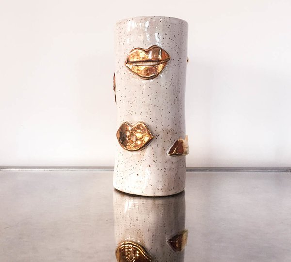 Lux/Eros Golden Kiss Vessel ($150)
