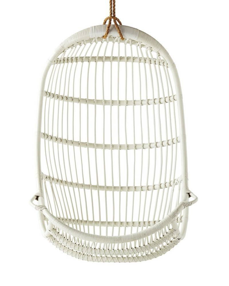 Serena & Lily Hanging Rattan Chair ($498)  Photo 15 of 30 in This Insanely Cool Loft Is What Downtown Dreams Are Made Of
