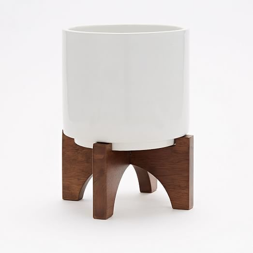 West Elm Midcentury Turned Leg Tabletop Planters ($24)  Photo 7 of 30 in Inside Fitness Mogul Lorna Jane's Elegant L.A. Retreat