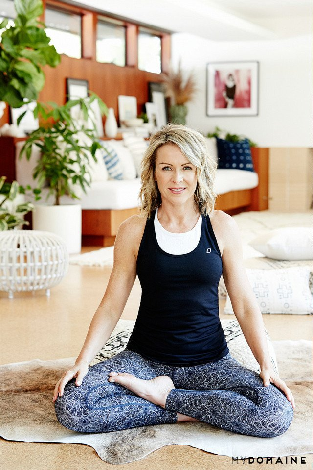 Cover photo by Jenna Peffley for MyDomaine; Styling by Kate Martindale; Design by TwoFold LA  Photo 16 of 30 in Inside Fitness Mogul Lorna Jane's Elegant L.A. Retreat