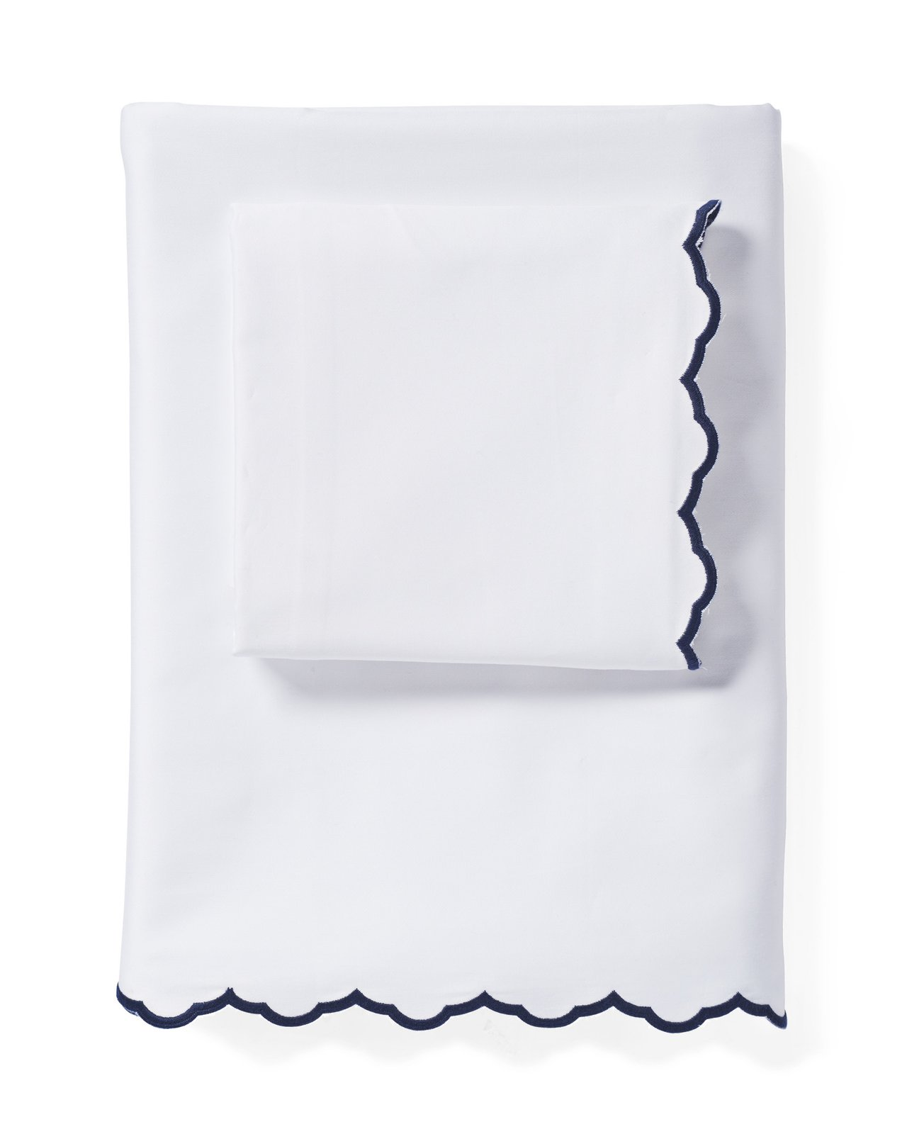 Serena & Lily Scallop Embroidered Sheet Set ($128)  Photo 14 of 16 in The #1 Small-Space Hack New Yorkers Swear By