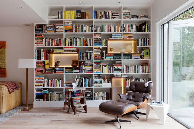 PHOTO: Amy Bartlam; DESIGN: North Design LA  Photo 1 of 18 in 9 Home Libraries We All Want to Curl Up in This Weekend