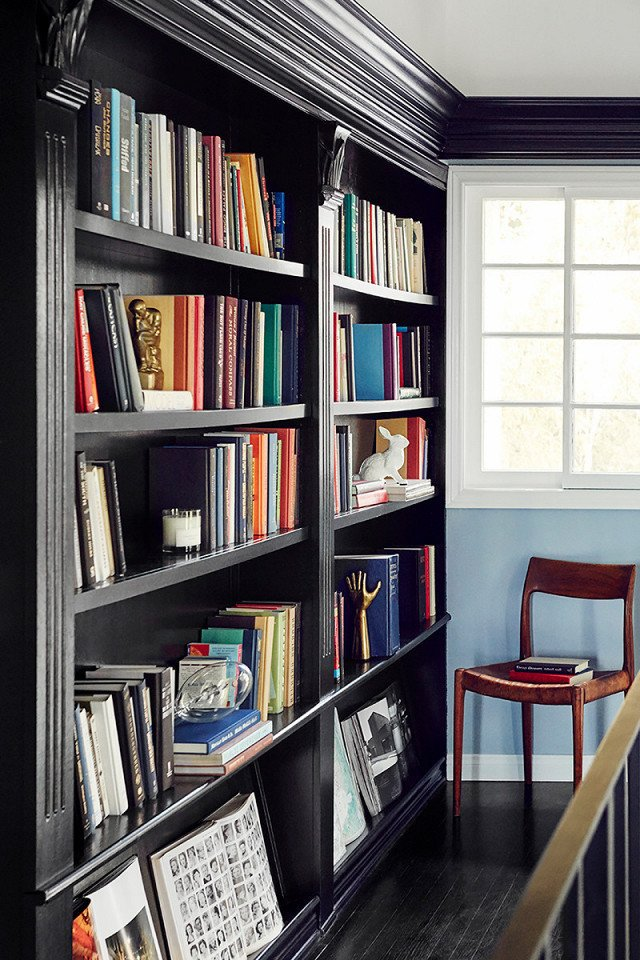 PHOTO: Chris Patey for MyDomaine; DESIGN: Consort Design  Photo 7 of 18 in 9 Home Libraries We All Want to Curl Up in This Weekend