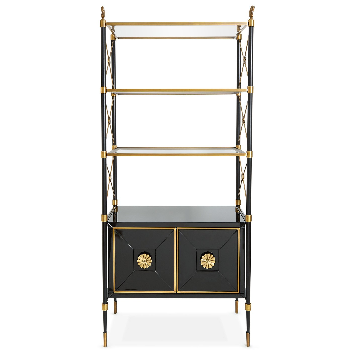 Jonathan Adler Rider Étagère ($2995)  Photo 4 of 18 in 9 Home Libraries We All Want to Curl Up in This Weekend