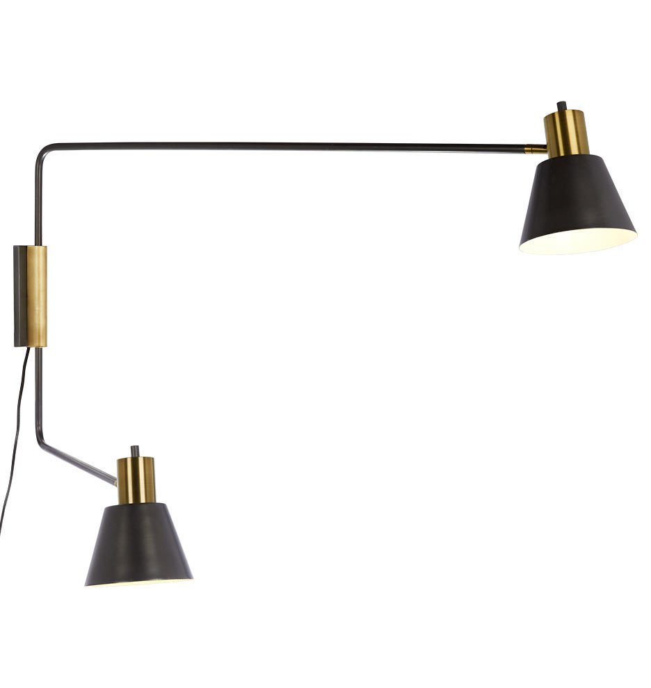 Rejuvenation Cylinder Task Double Arm Wall Lamp ($349)  Photo 18 of 19 in Tour an Insanely Stylish NYC Loft With Major Scandinavian Vibes