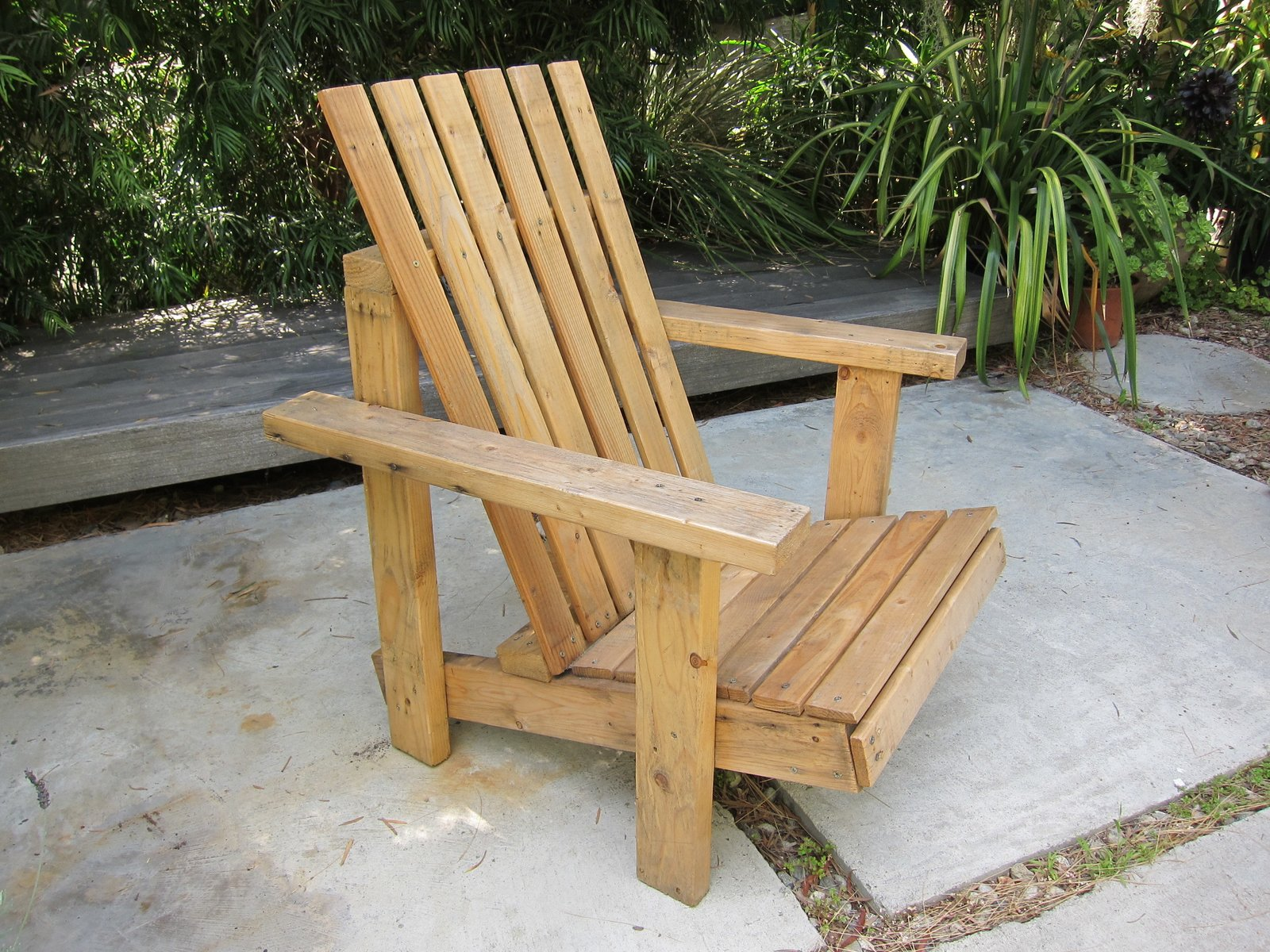 it took me about 4 hours to design and assemble this out of a palette someone left in the alley behind my house in Venice Beach. I had no plan and I only used an old saw and a screw-driver. I even recycled the screws from the pallete.   Best Photos from Adirondack chair I made from a pallet