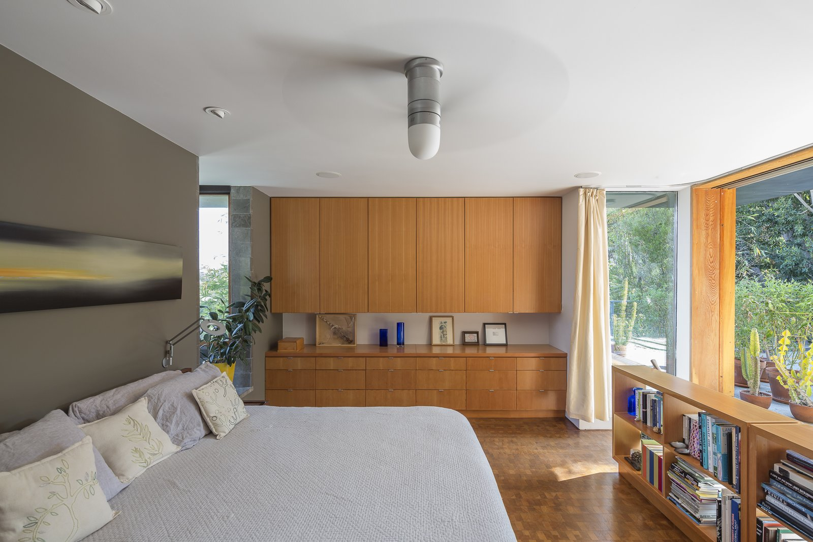 Bedroom, Bed, Bookcase, Storage, Ceiling, Dresser, Recessed, and Medium Hardwood Master Bedroom  Best Bedroom Storage Bookcase Ceiling Medium Hardwood Photos from NHN House
