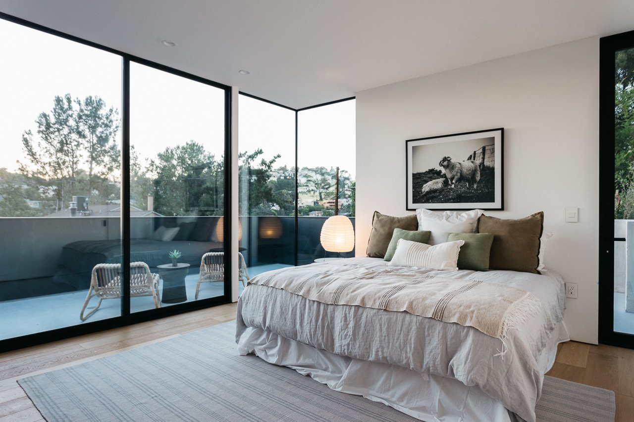 Bedroom, Light Hardwood Floor, and Recessed Lighting Master Bedroom  Tilt-Shift House by ANX / Aaron Neubert Architects