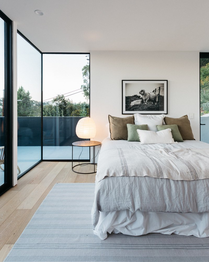 Bedroom, Light Hardwood Floor, and Recessed Lighting Master Bedroom  Tilt-Shift House by ANX / Aaron Neubert Architects