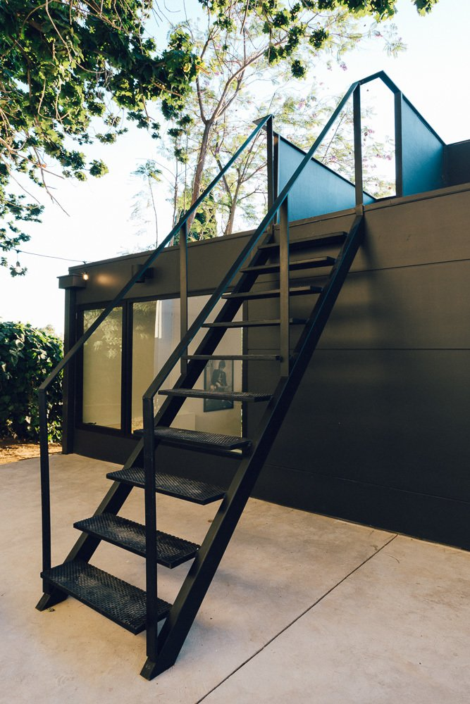 Exterior, Concrete Siding Material, and House Building Type Roof Deck Stair  Tilt-Shift House by ANX / Aaron Neubert Architects