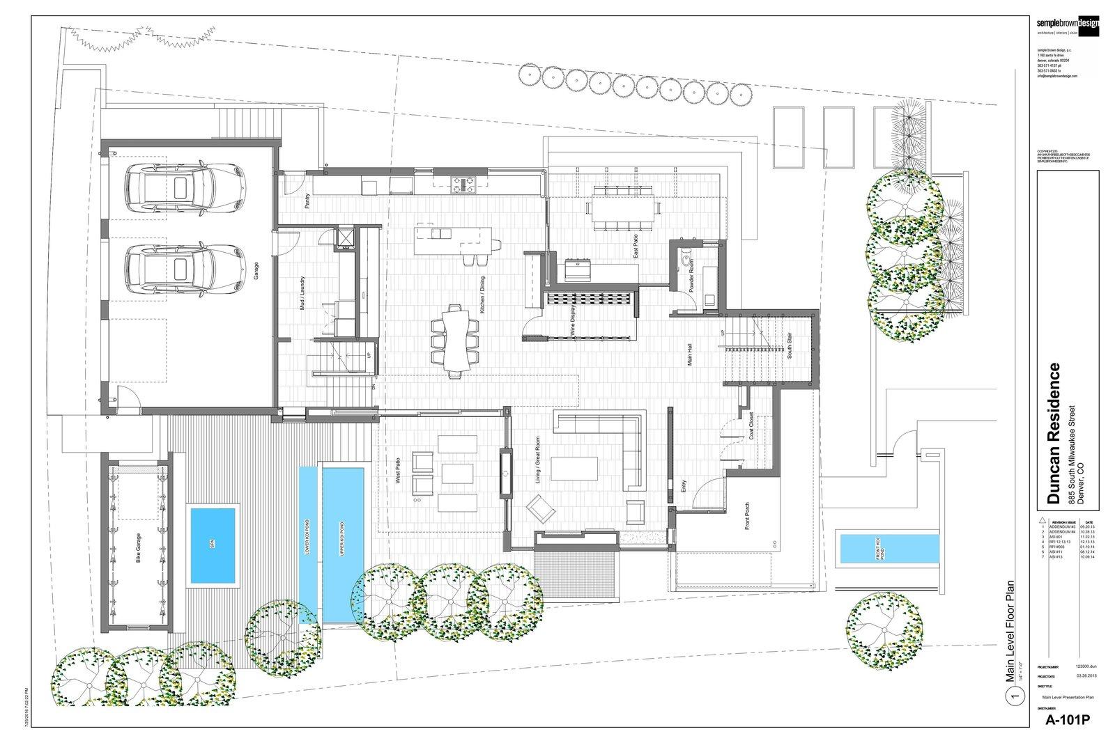 Main Level Floor Plan  the Duncan Residence