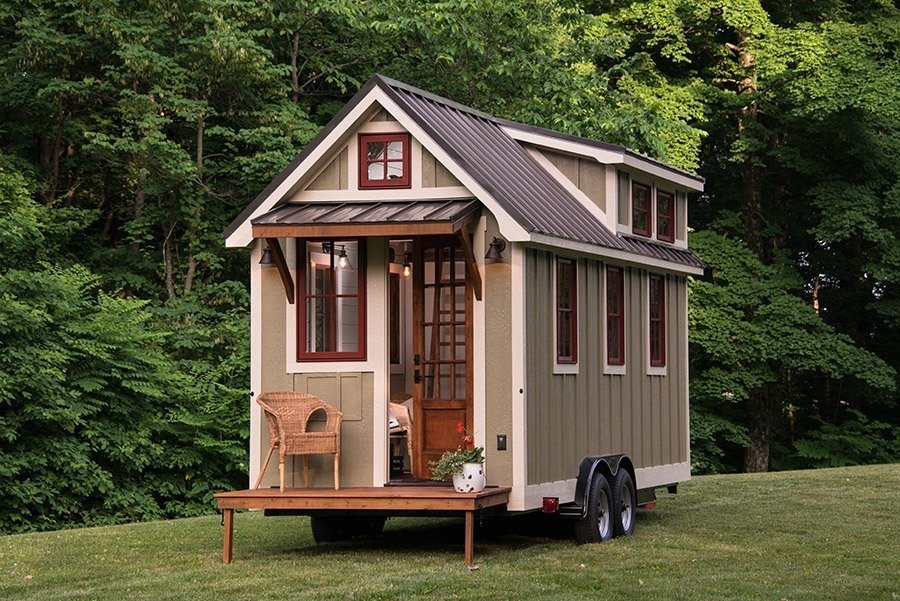 Exterior, Tiny Home Building Type, and Gable RoofLine This mobile tiny house by Timbercraft Tiny Homes is 150 square feet of southern charm.  Photo 4 of 11 in 10 Tiny Homes in Rural America