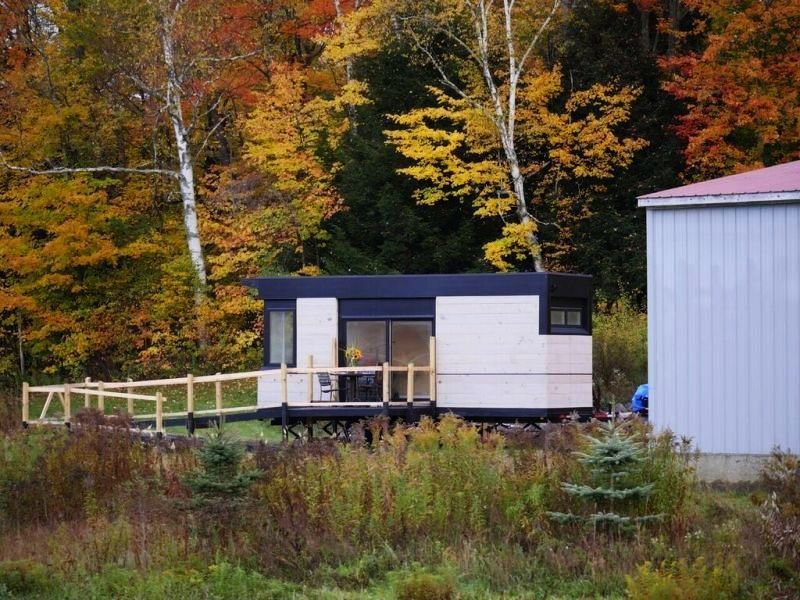 LineSync Architecture designed this remote Vermont home for families requiring wheelchair accessibility.  Photo 6 of 11 in 10 Tiny Homes in Rural America
