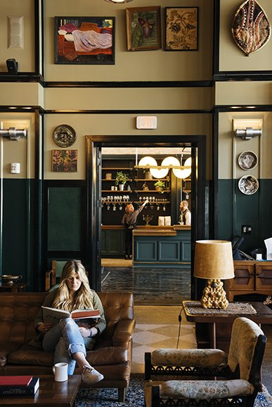 Staying at the Ace Hotel? Grab a coffee from Stumptown and relax in the lobby next door. Photo by Rush Jagoe. Read more about the design of this space at imbibemagazine.com/stumptown-new-orleans  Places to go from A Tour of Stumptown New Orleans