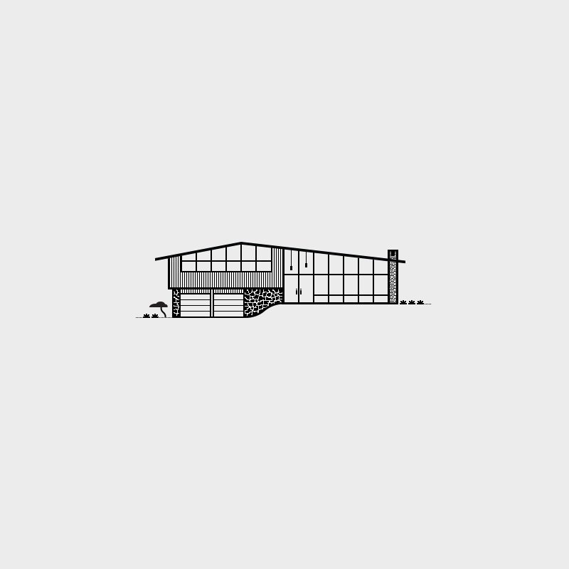 Kendalwood Home, 1964. Architectural Firm,  Albert Builders. Illustration by Michael Nÿkamp of mkn design.  Mid Century Modern Homes Collection: Illustrations by Michael Nÿkamp