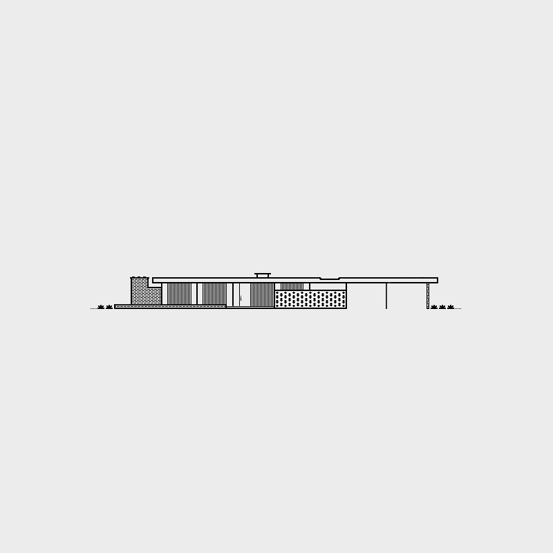 Alcoa Care Free Home, 1957. Architect, Charles Goodman. Illustration by Michael Nÿkamp of mkn design.  Mid Century Modern Homes Collection: Illustrations by Michael Nÿkamp