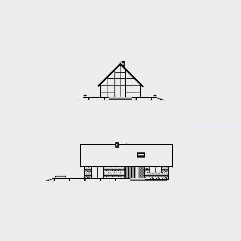 Risom House, 1967. Architect, Jens Risom. Illustration by Michael Nÿkamp of mkn design.   Mid Century Modern Homes Collection: Illustrations by Michael Nÿkamp