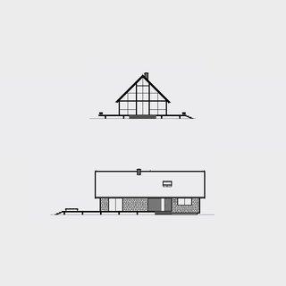 Risom House, 1967. Architect, Jens Risom. Illustration by Michael Nÿkamp of mkn design.