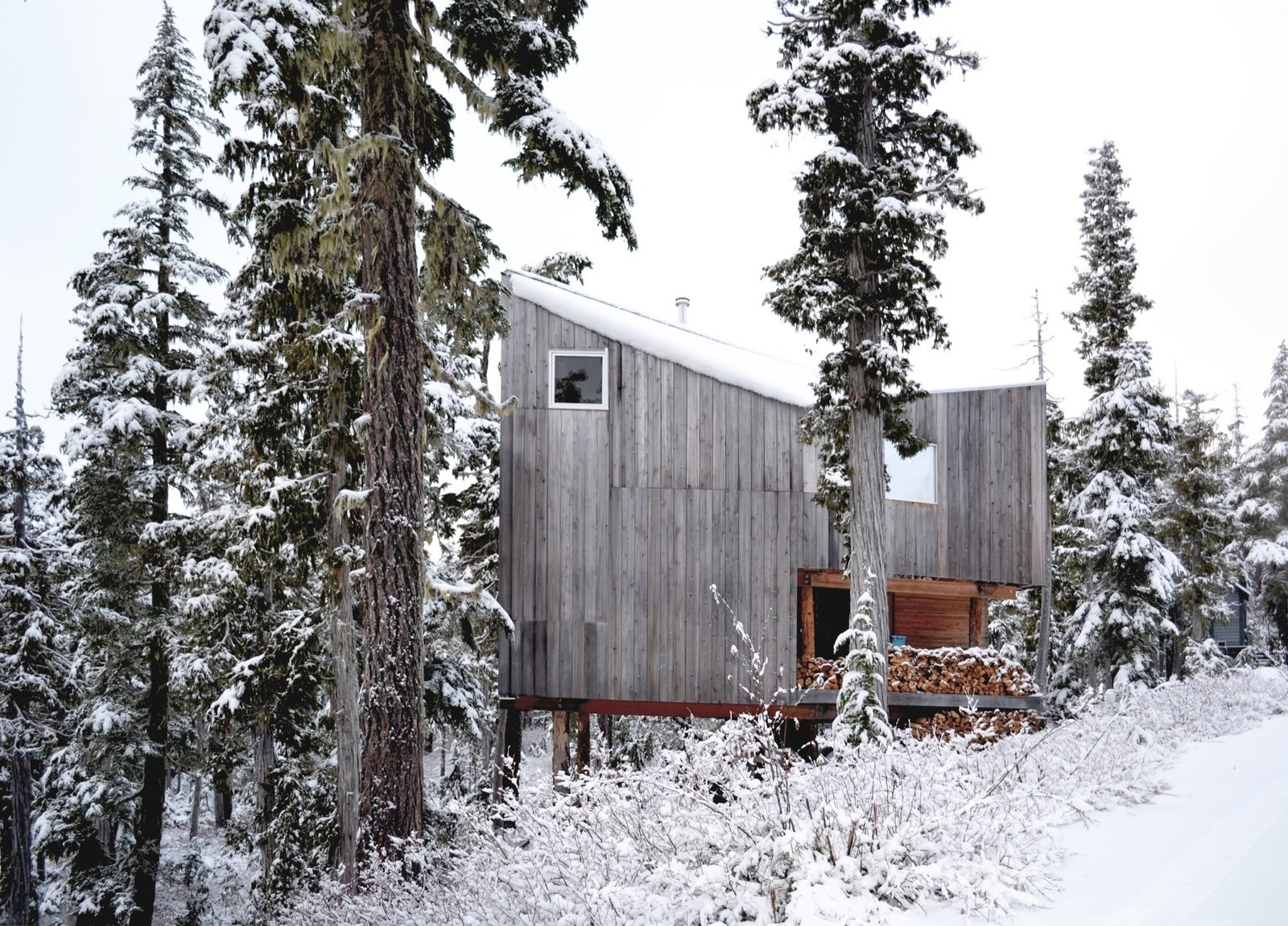 Architecture, Made On Site   Vancouver Island, Canada  The husband-and-wife founders of Scott and Scott Architects design-built their own off-grid cabin with the adventurous spirit of the powder boarders they both are.   Cabin Love