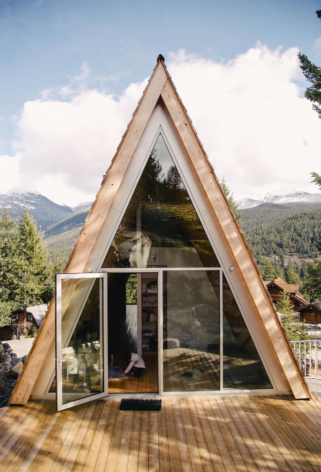 Exterior and A-Frame RoofLine A Whistler A-Frame | British Columbia, Canada  Scott & Scott Architects design an outdoorsy Vancouver family's dream cabin  Photos from Cabin Love