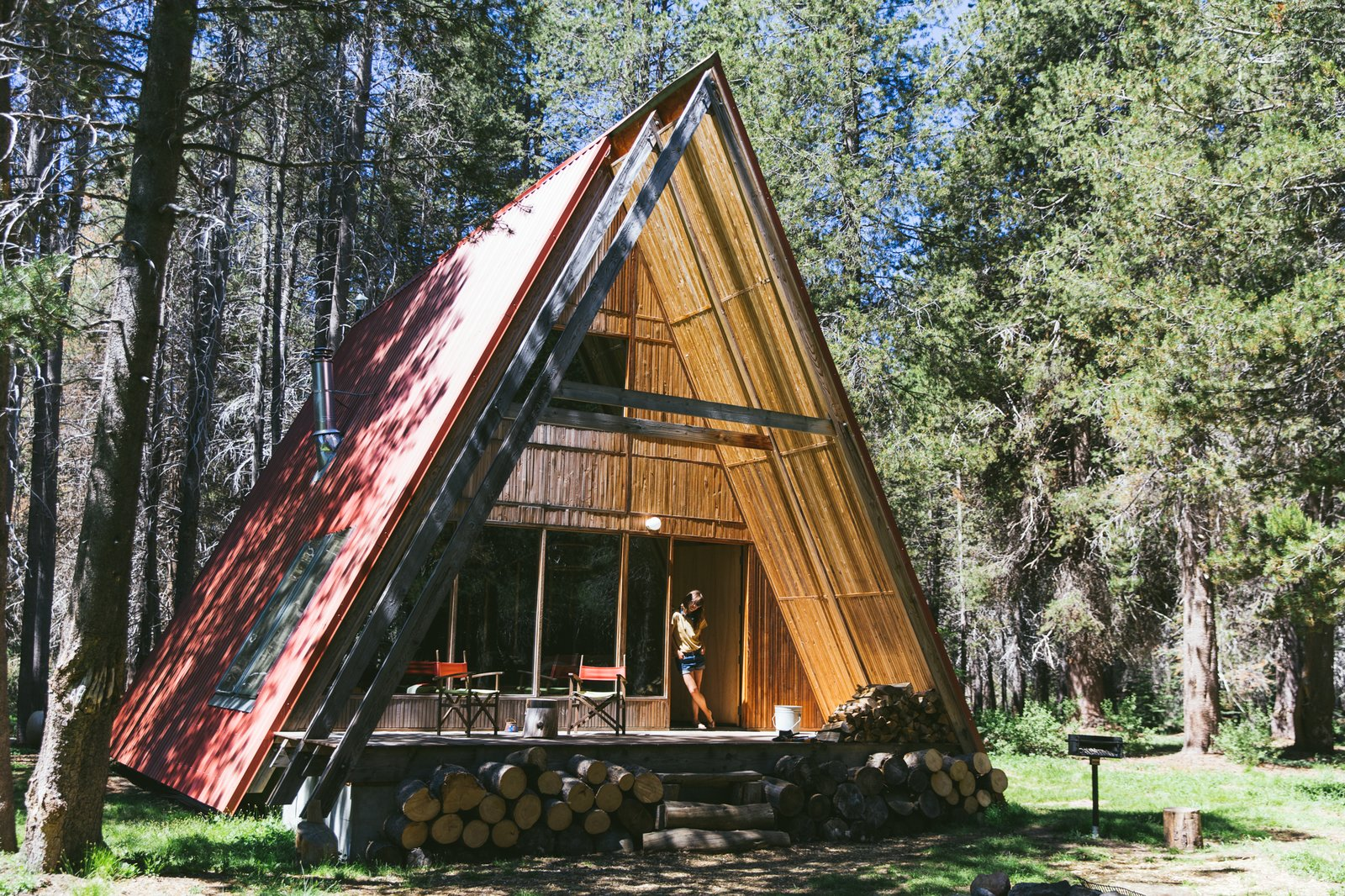 Remote Red A-frame exterior