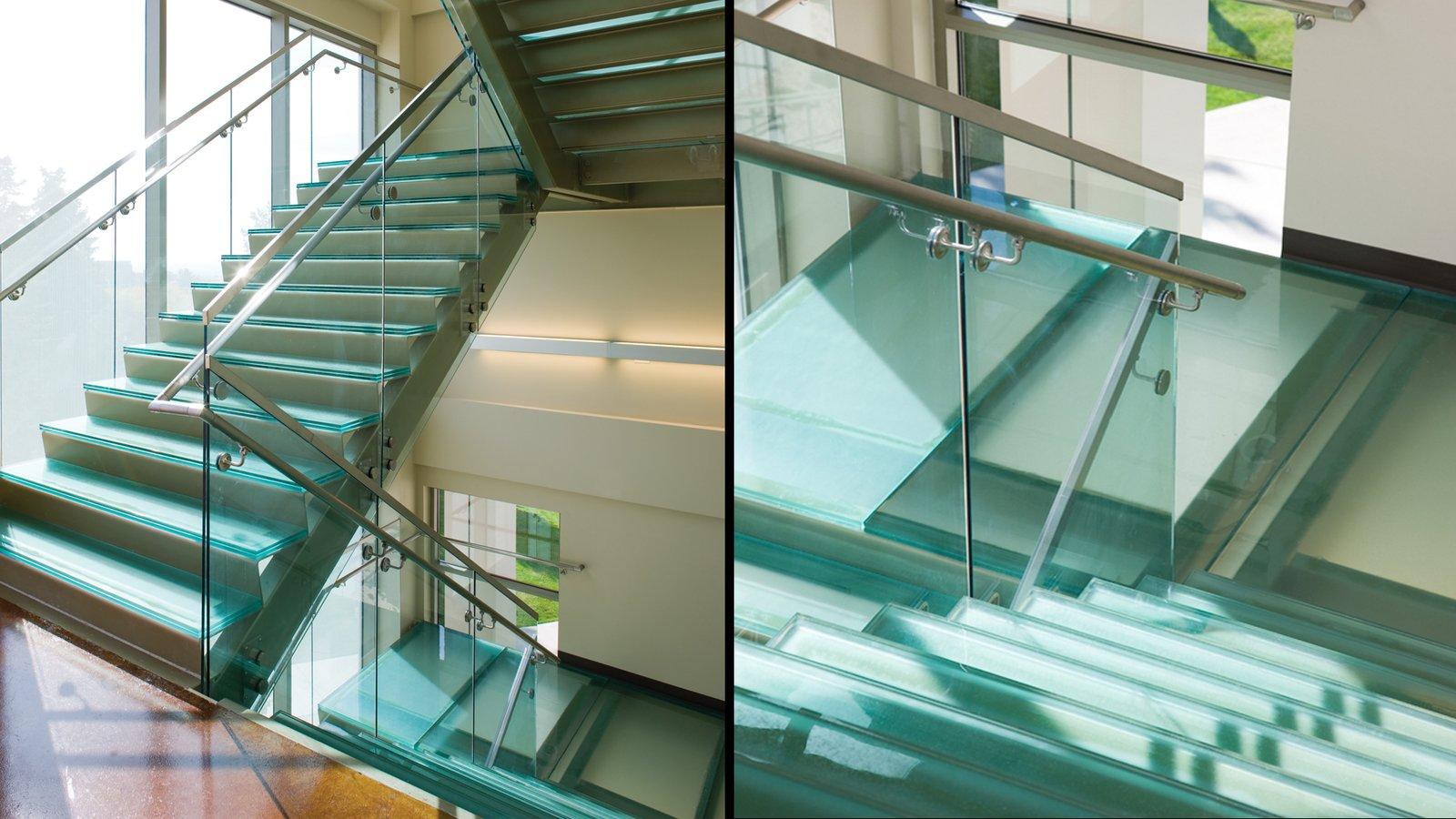 Stair Treads / Flooring, University of Utah, Salt Lake City  Architect/Designer: Cooper Roberts Simonsen Associates Glass Manufacturer: Nathan Allan Glass Studios  View Case Study: http://nathanallan.com/our-portfolio/university-of-utah/  Architectural + Decorative Glass