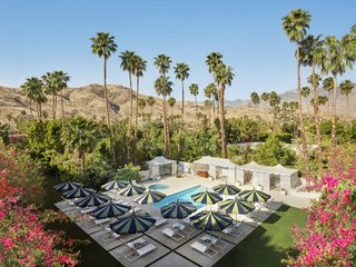 """Palm Springs is singular, and I wanted to create a hotel that captures its essence—groovy modern architecture meets Hollywood glamour—and crank it up a notch,"" Jonathan Adler said of his design at the Parker Palm Springs."