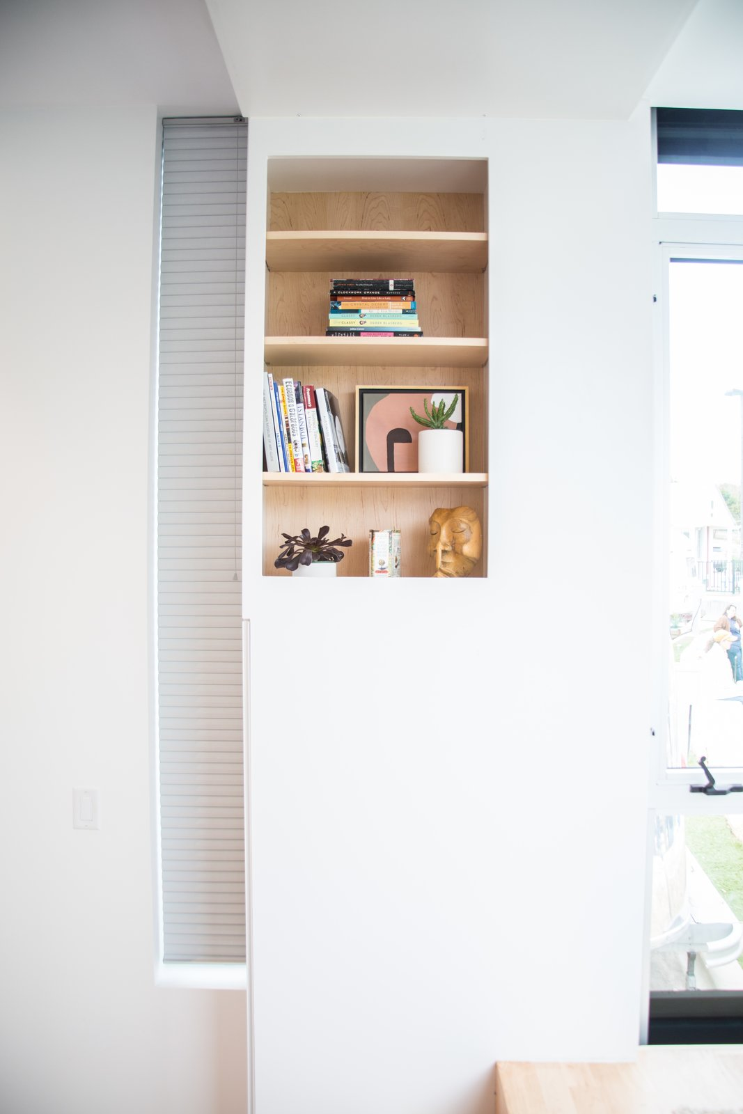 Storage Room and Shelves Storage Type White surfaces complete the interior, adding to the spacious, open feel.  Photo 7 of 9 in Can These Tiny, Modular Smart Homes Relieve the Demand For Affordable Housing?