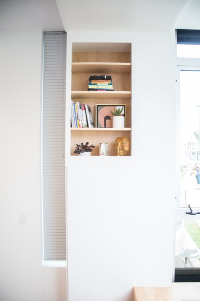 White surfaces complete the interior, adding to the spacious, open feel.