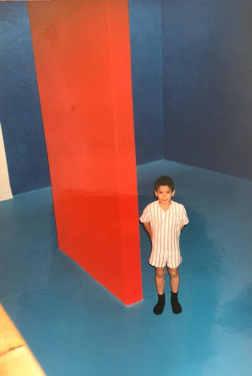 Eduardo Luque as a child in Casa Gilardi