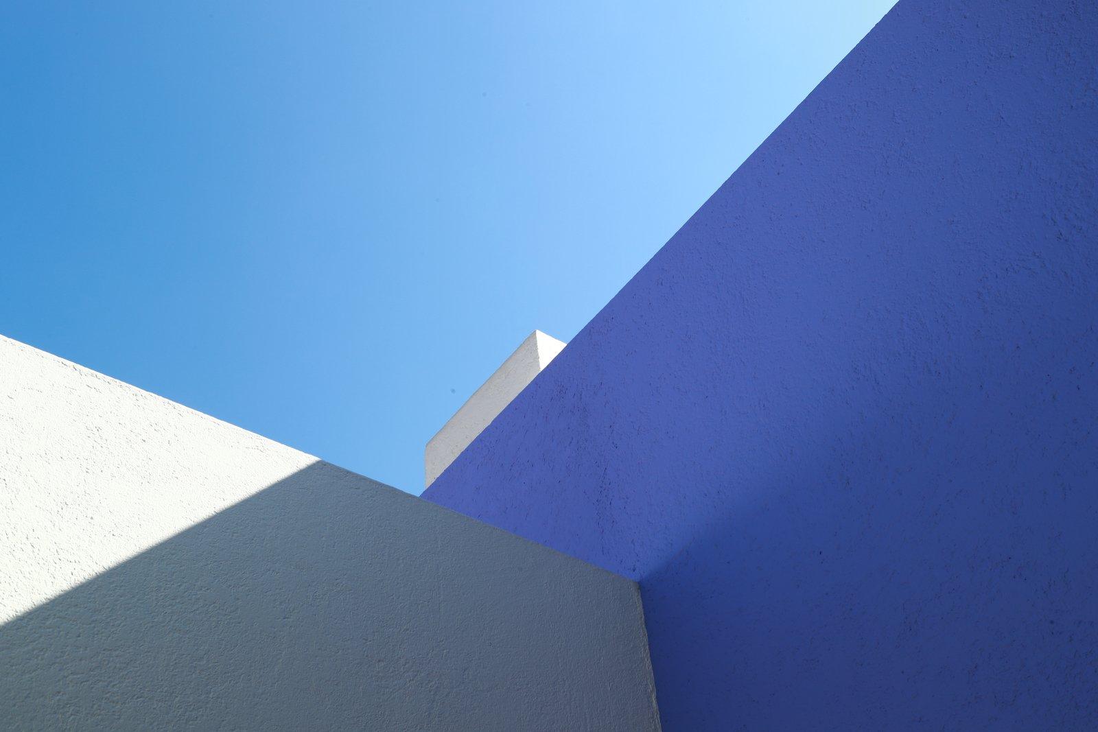 Casa Gilardi cobalt blue wall