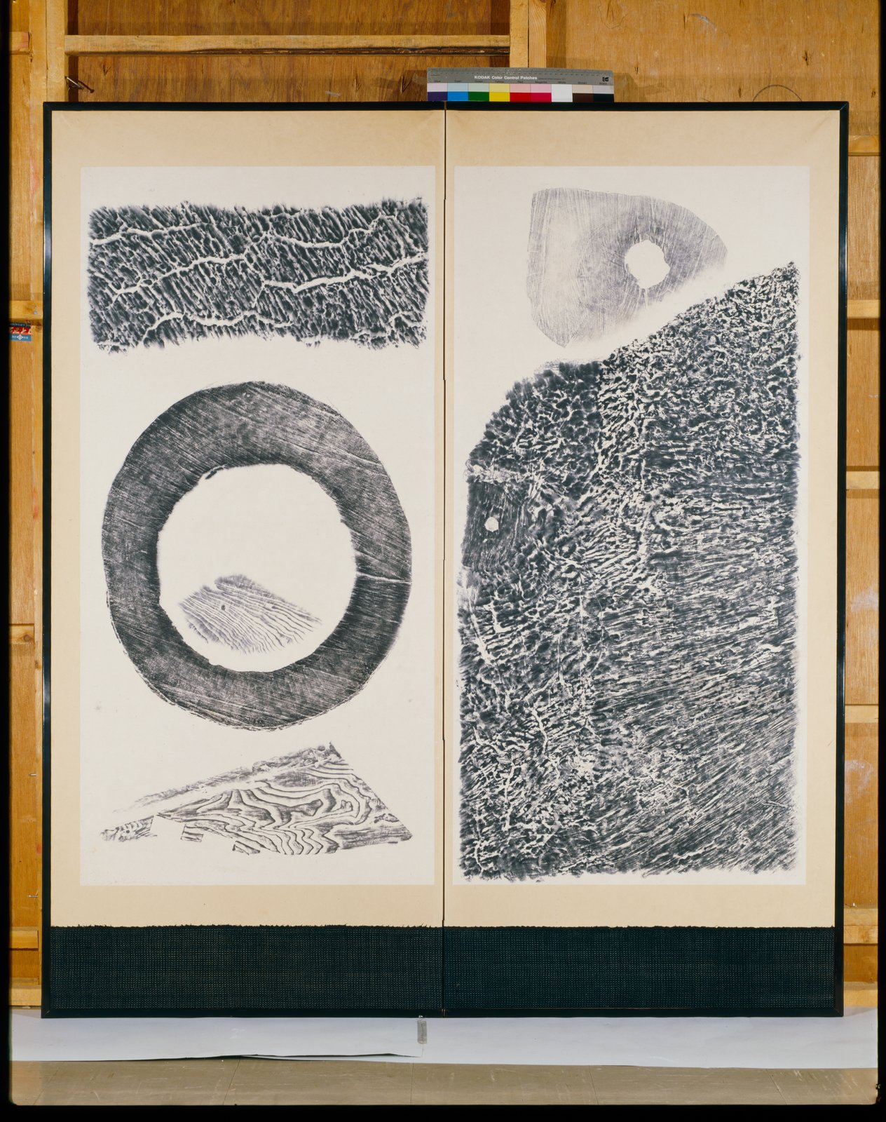 Nature, 1952, by Saburo Hasegawa (Japanese, 1906–1957). Wood rubbings; ink on paper. Kyoto Museum of Modern Art.  Photo 5 of 7 in How a Friendship Between Isamu Noguchi and Saburo Hasegawa Helped Shape Midcentury Design