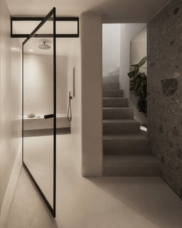 Villa Alpha features a luxurious, walk-in shower.