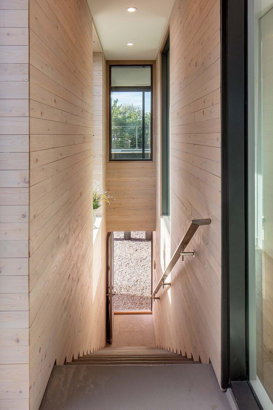 Beach Haven Residence, Entrance/Exterior Stairwell.   Beach Haven Residence by Specht Architects