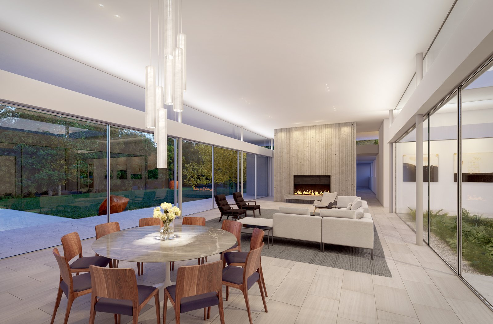 Preston Hollow, Living Area.   Preston Hollow by Specht Architects