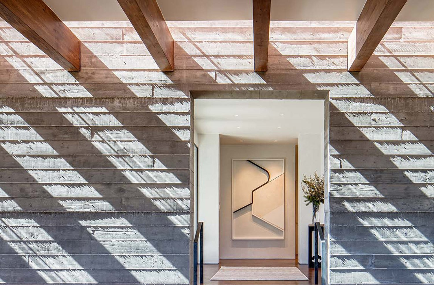 Sundial House, Hallway.   Sundial House by Specht Architects