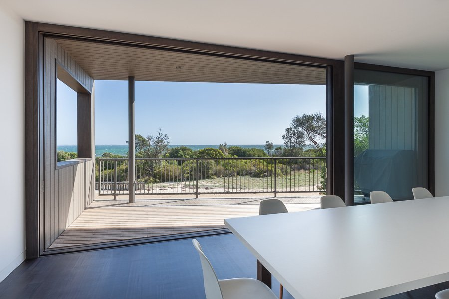 Upper Loor Balcony Tagged: Windows, Wood, and Sliding Window Type.  Residence J&C by Open Studio Pty Ltd Architecture
