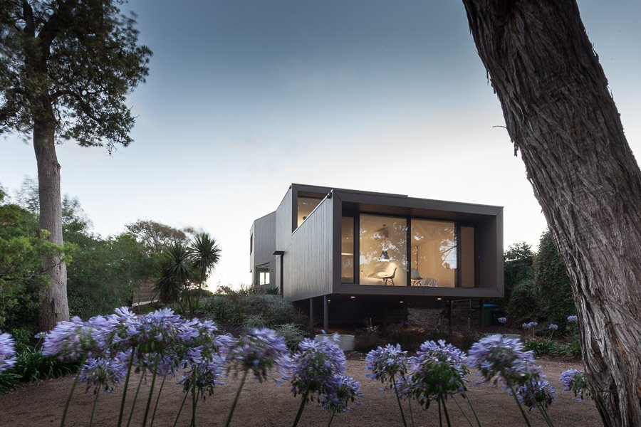 Outdoor, Front Yard, Shrubs, and Trees Street Facade  Residence J&C by Open Studio Pty Ltd Architecture