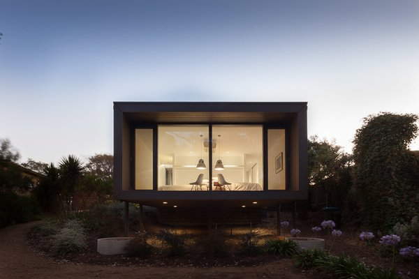 Windows, Picture Window Type, and Wood Street Facade at Dusk  Residence J&C by Open Studio Pty Ltd Architecture