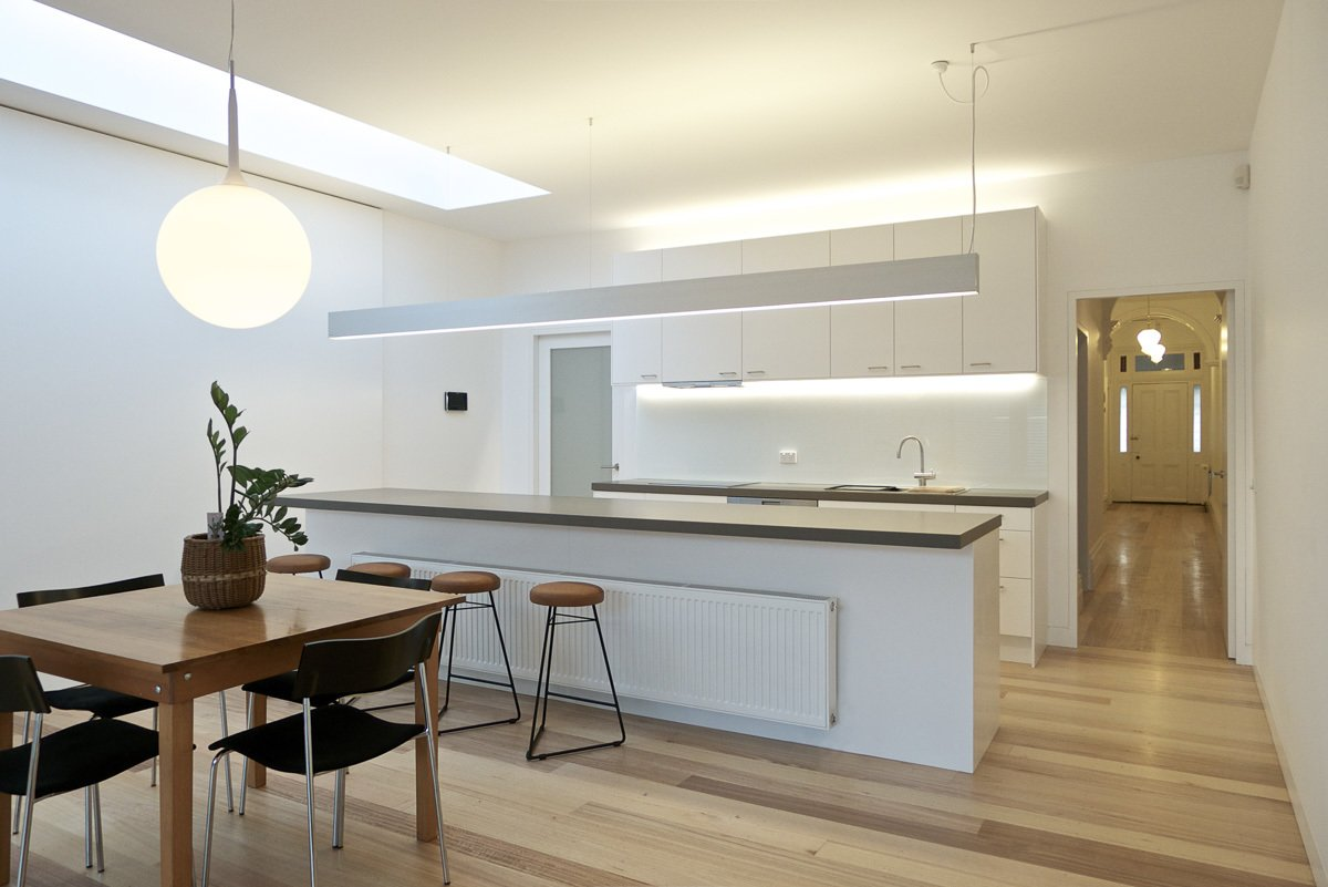 Dining Room, Table, Chair, Pendant Lighting, and Medium Hardwood Floor Kitchen & Dining  Residence L&N by Open Studio Pty Ltd Architecture