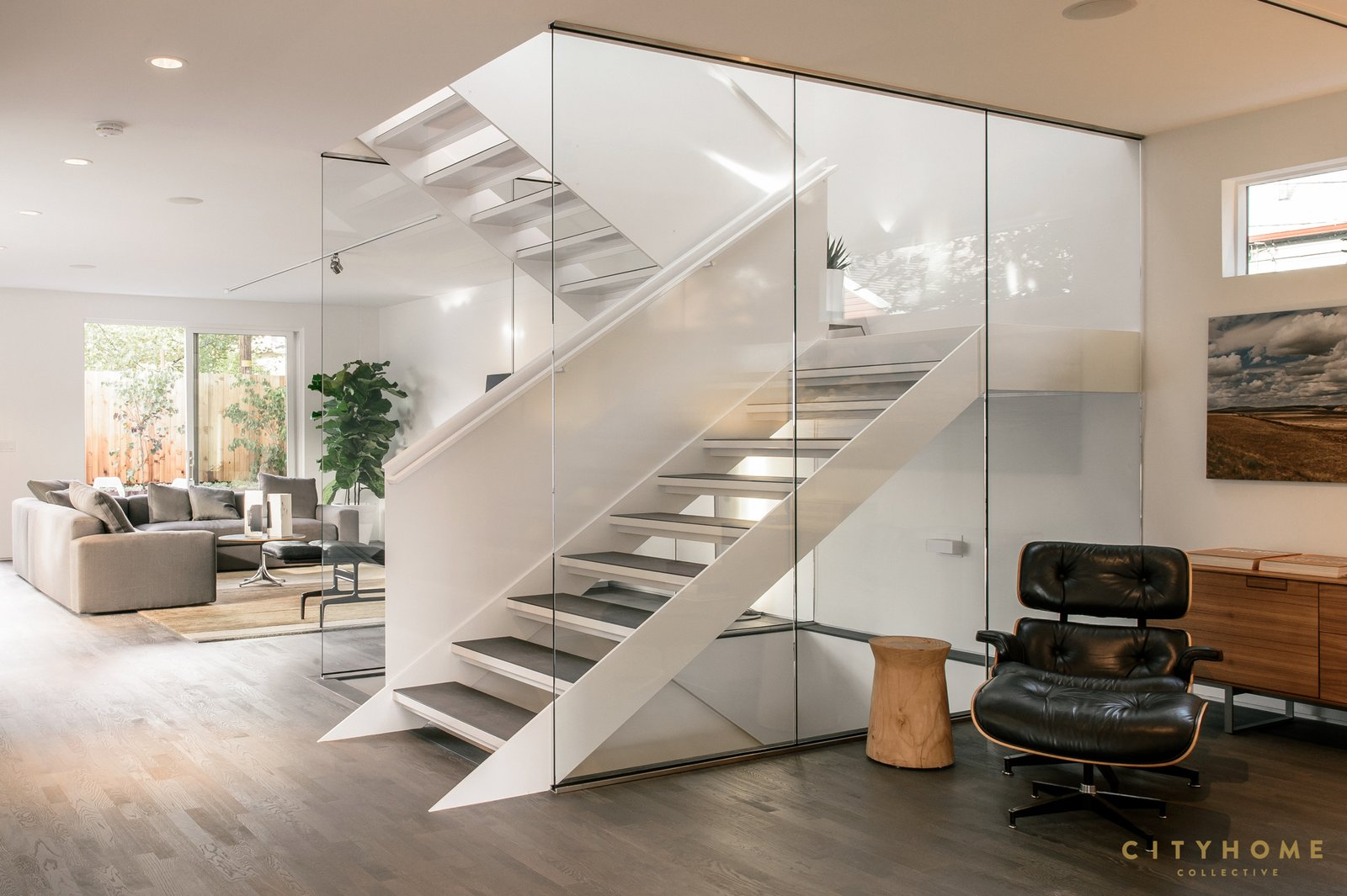 Staircase, Metal Tread, and Metal Railing these stairs....  Sugarhouse Studio