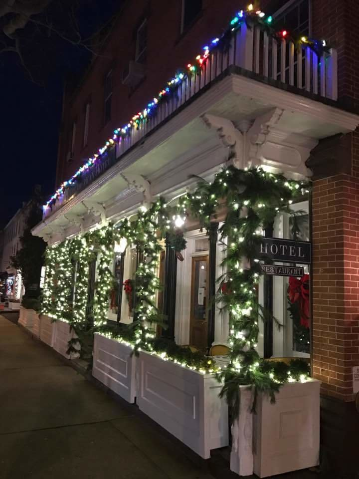 American Hotel dressed for Christmas  Christmas from Sag Harbor