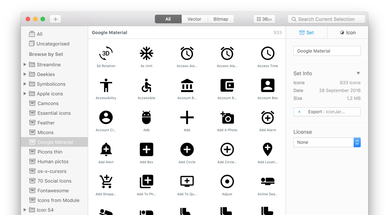 IconJar's interface can be scaled and modified to quickly organize, arrange, and export any icon in your library.  Photo 2 of 5 in IconJar is an Incredible App to Manage Your Icons