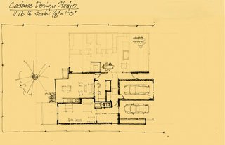 Sketch for an addition to a mid-century modern home in the Krisana Park Neighborhood, Denver, CO