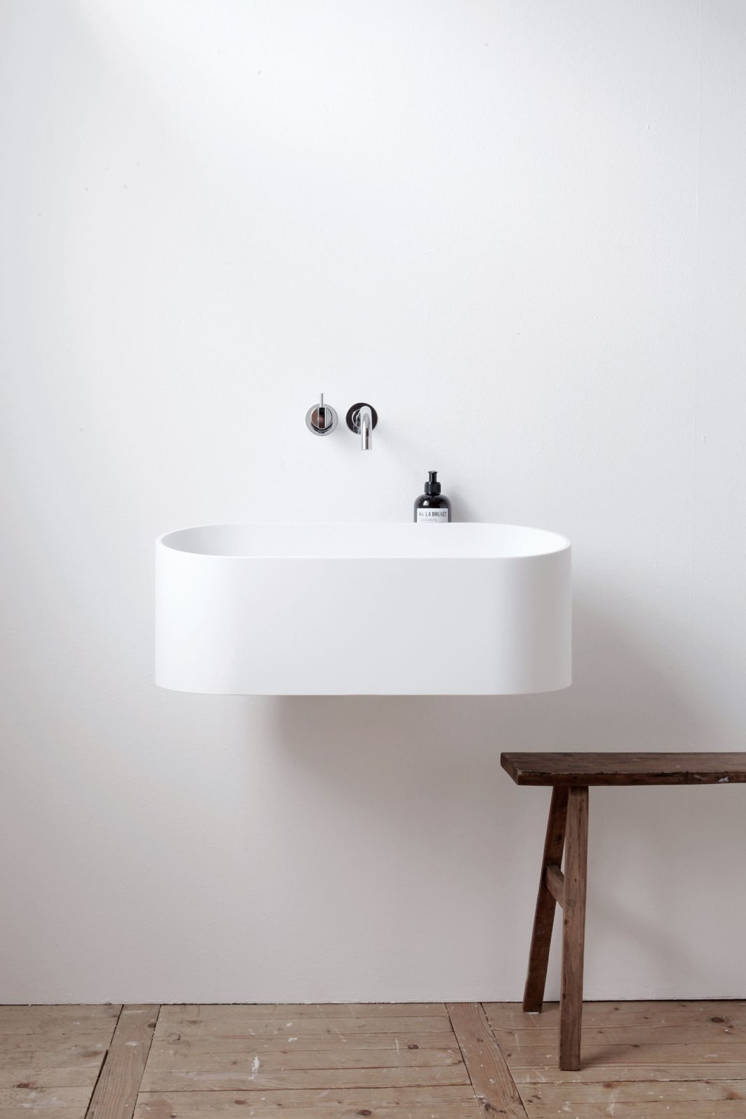 Floating sink. Fuse by Not Only White.  Details
