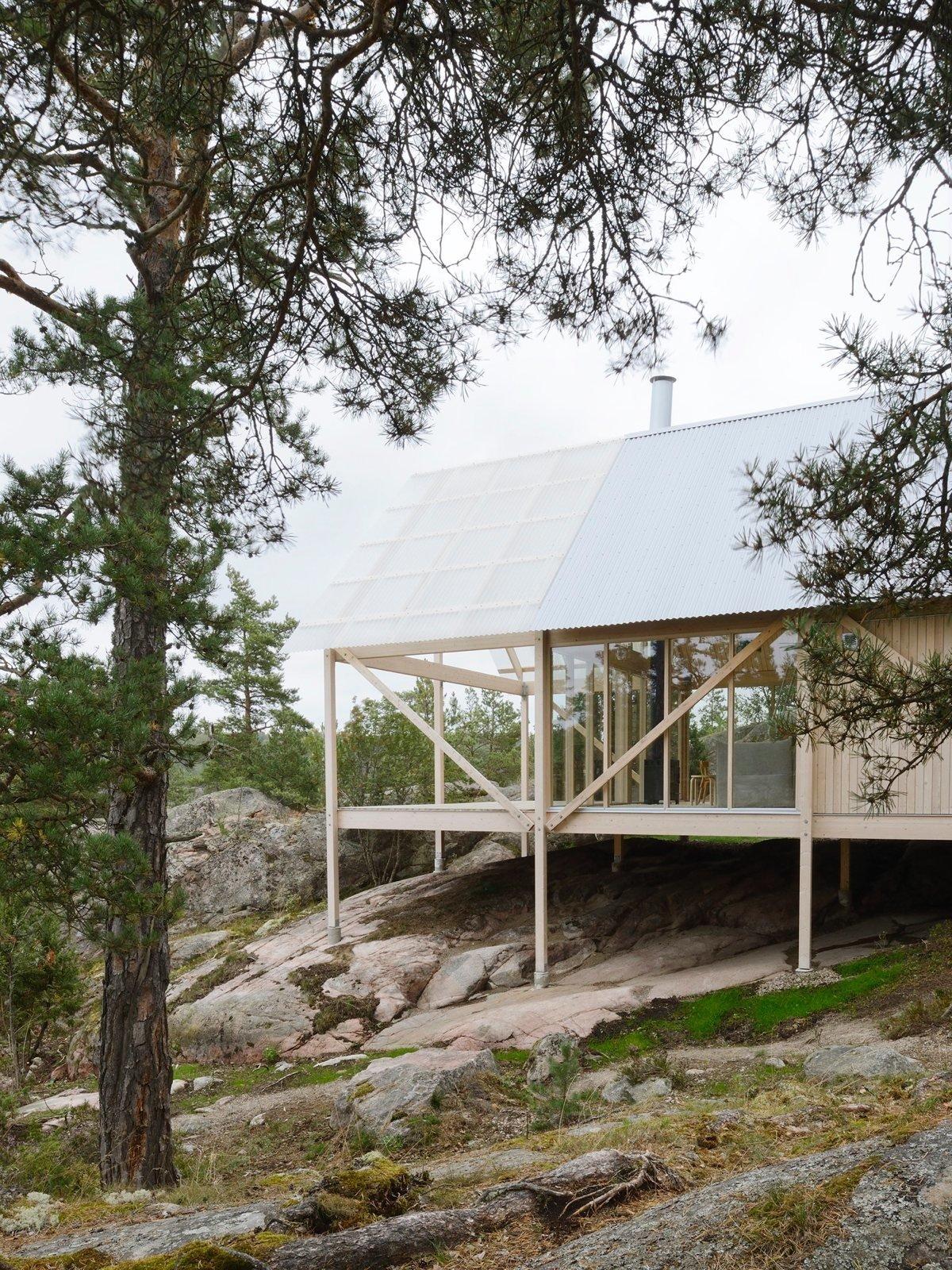 Exterior, House Building Type, and Wood Siding Material Viggsö by Arrhov Frick. © Mikael Olsson.  upinteriors.com/go/spr12  Best Photos