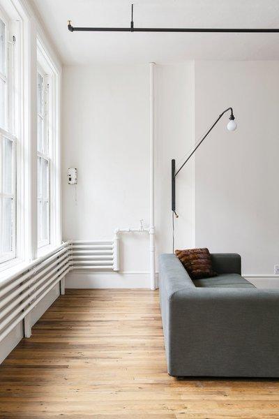 Industrial living room. Bond Street Loft by Elizabeth Roberts Architecture & Design.  upinteriors.com/go/sph324  Living rooms