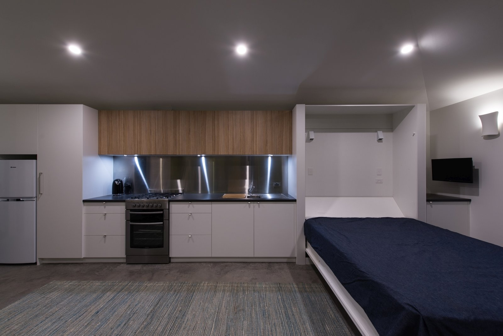 Kitchen and fold down bed  Cooks Hill Granny by Shane Blue