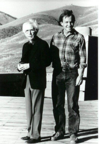 Circa 1982 Alden B. Dow with his Grand nephew Henry Whiting II  Photo 2 of 4 in Henry Whiting Lecture Living Mid-Century Modernism: Growing Up in Midland and Beyond